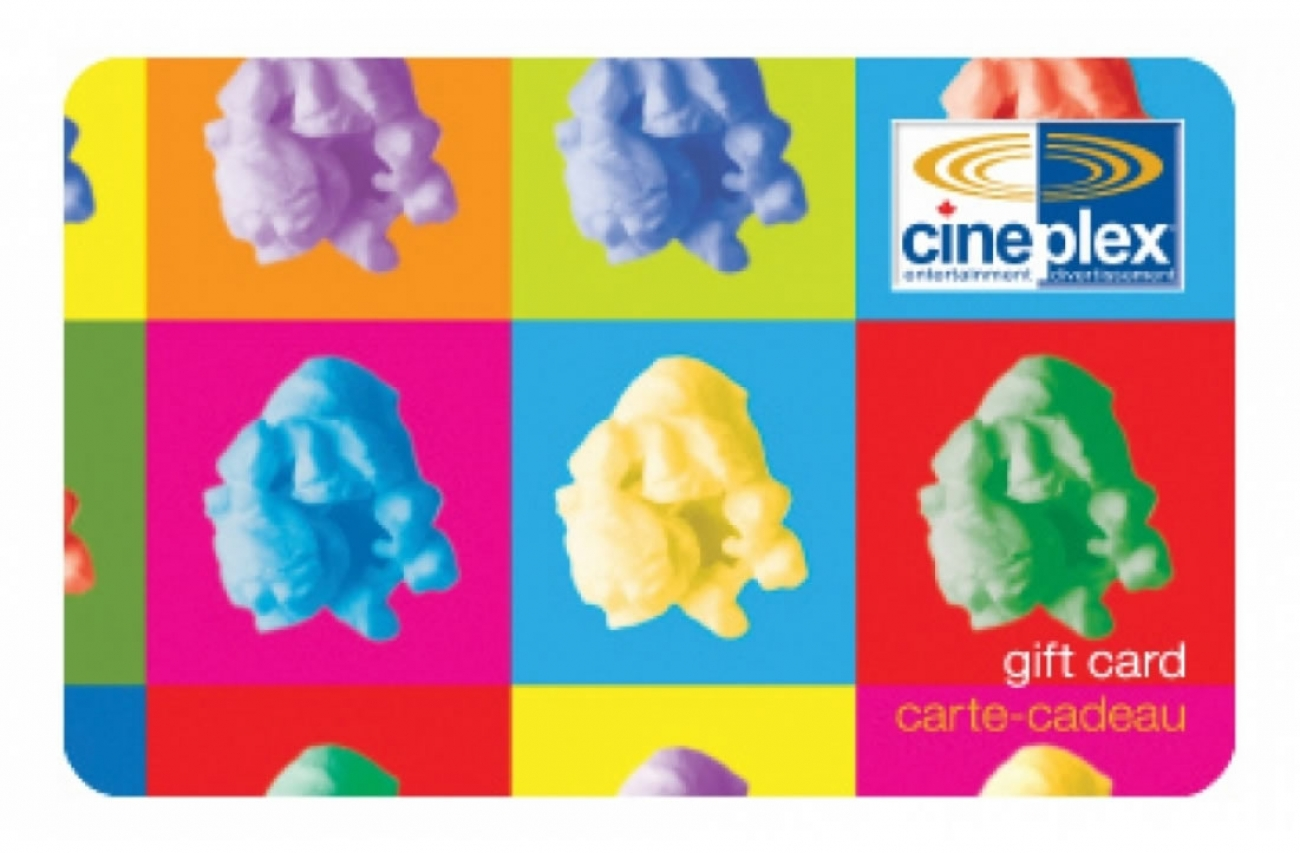 Cineplex Odeon Gift Card $100
