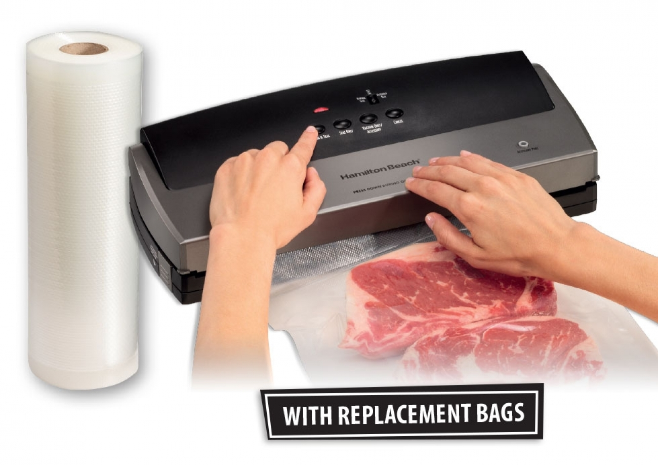 Hamilton Beach NutriFresh Vacuum Sealer & Bags