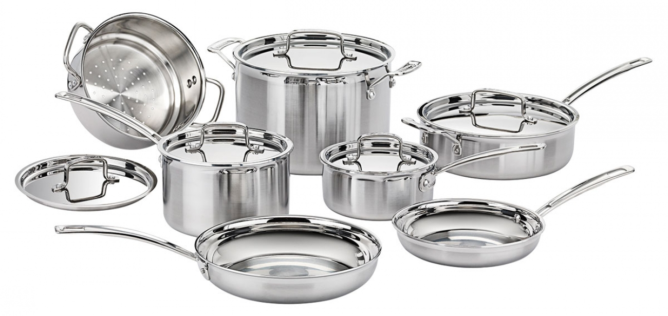 Cuisinart 12 pc MultiClad Pro SS Cookware (Faves)