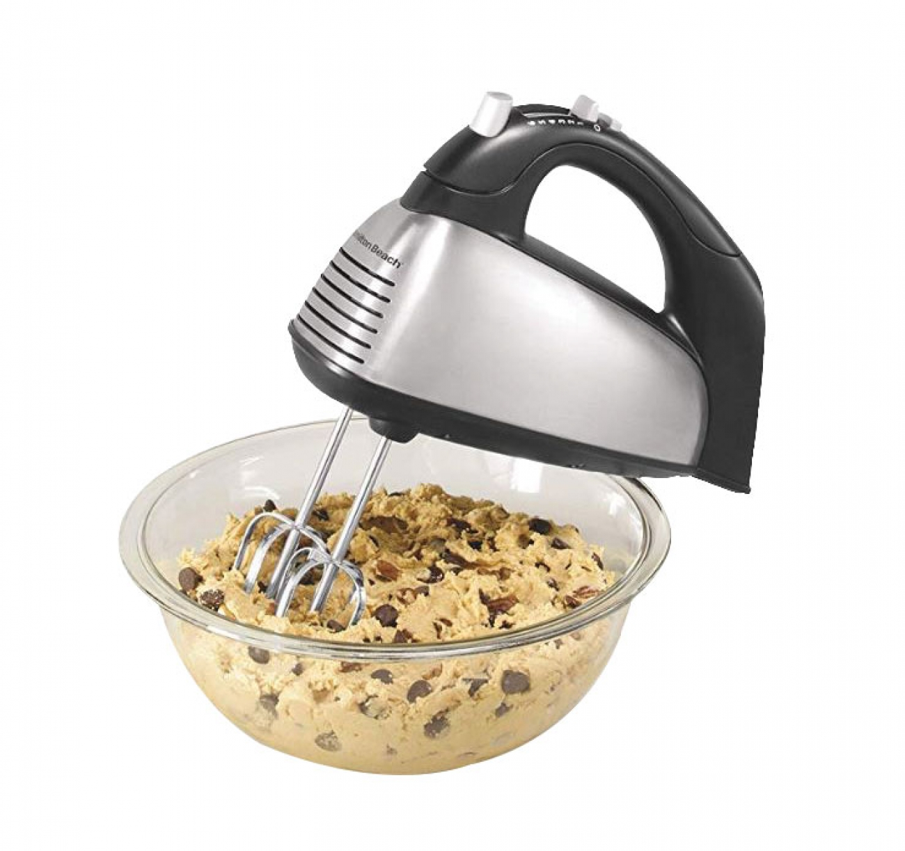 HB Classic Metal Hand mixer With SoftScrape