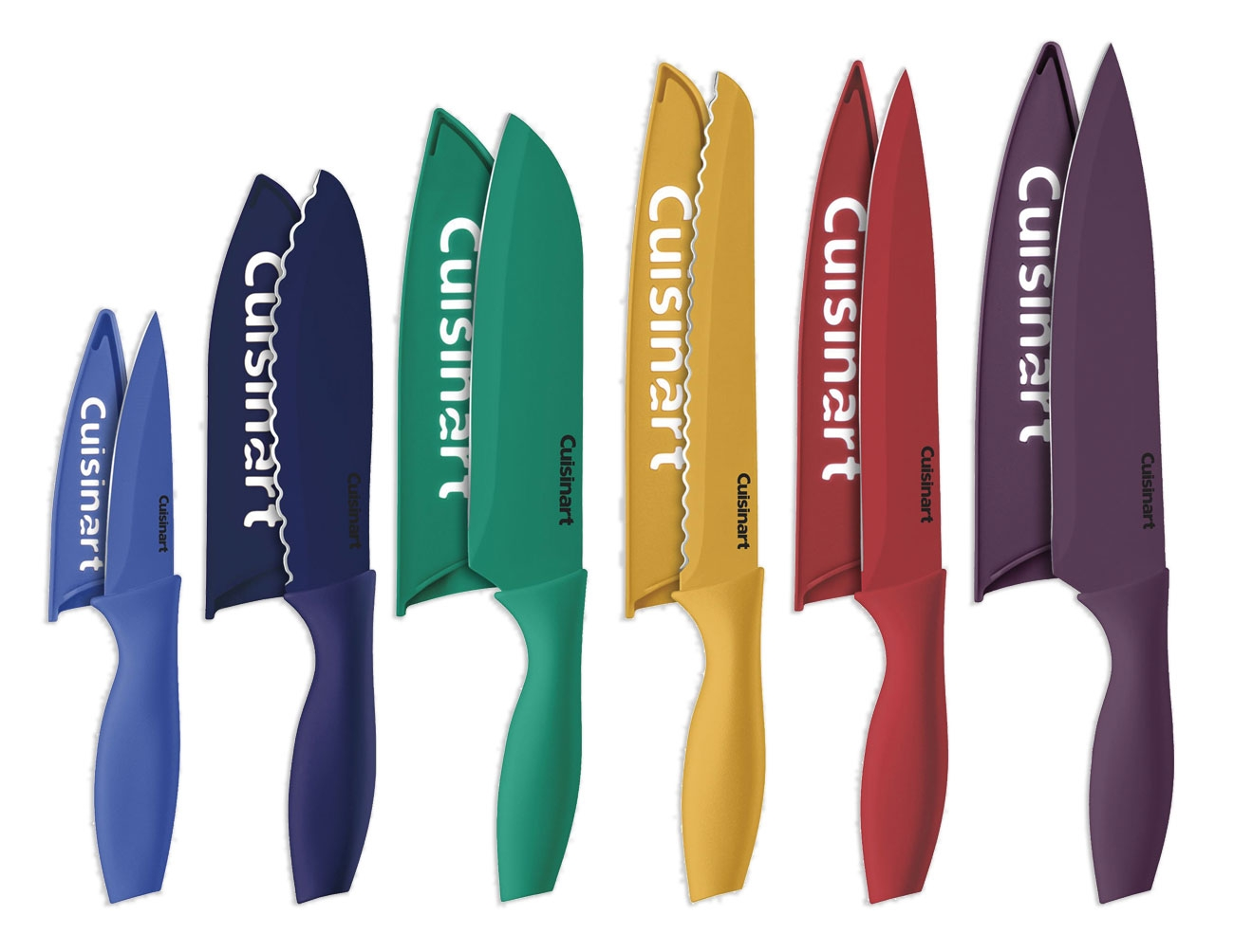 Cuisinart 12 Piece Multi-Coloured Knife Set