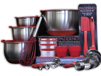 Paderno Skid Resistant Mixing Bowl & Accessories