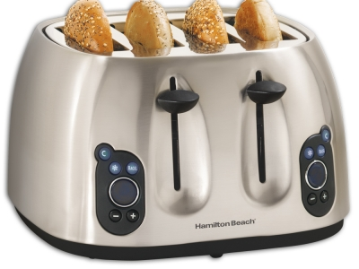 Hamilton Beach Stainless Steel 4 Slice Toaster