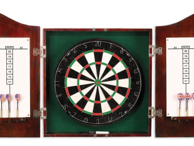 13 inch Dart Board with Cabinet