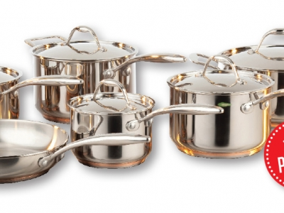 Paderno Copperline 11pc Cookware Set