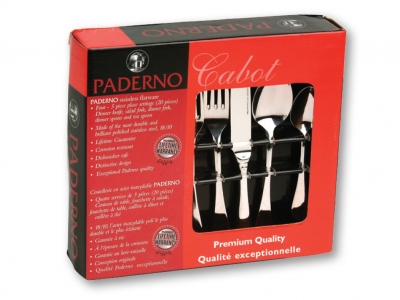 Paderno Cabot 20pc Flatware