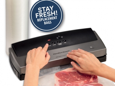 Hamilton Beach NutriFresh Vacuum Sealer with Replacement Bags