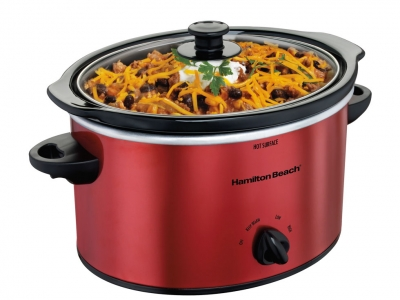 Hamilton Beach 3Q Slow Cooker Red Metallic