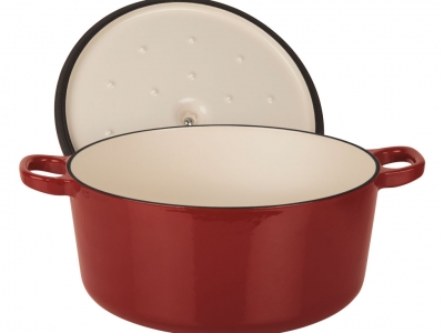 3.5 Qt. Round Casserole with Lid - Red