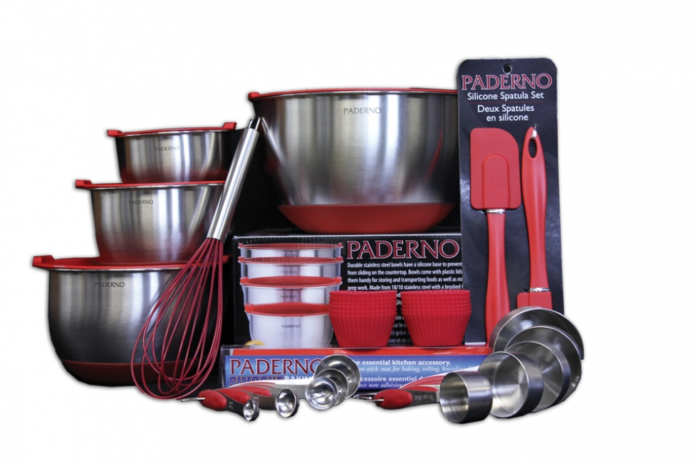 Paderno Skid Resistant Mix Bowl Set & Accessories