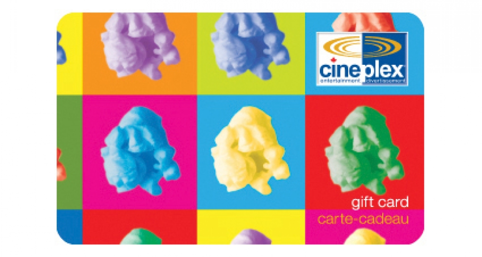 Cineplex Odeon Gift Card $25